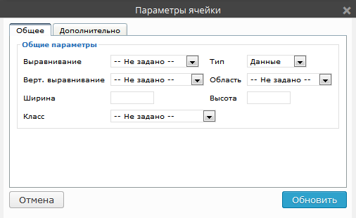 Таблицы в WordPress